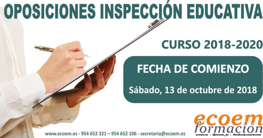 Oposiciones Inspectores de Educación